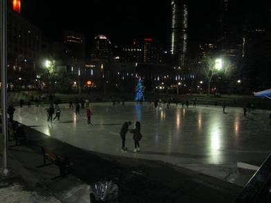The Olympic Plaza in Downtown Calgary