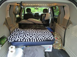Camping in our car