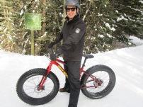 Matt happy on his fat bike