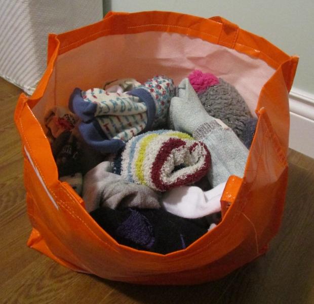 Over-packing socks