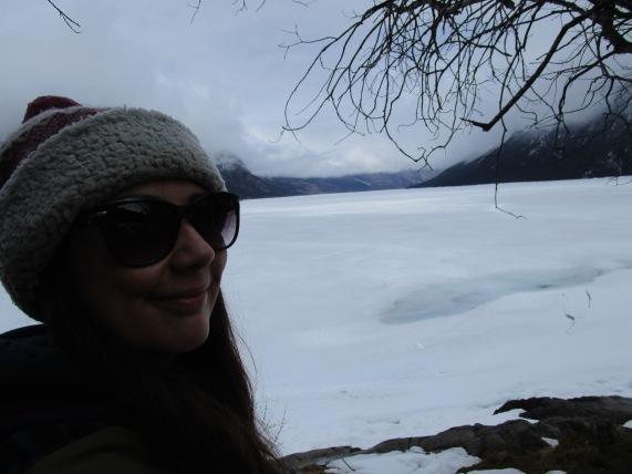 Lots of snow at Lake Minnewanka