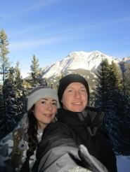 Enjoying the snowy mountains at Trolls Falls