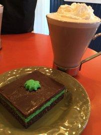 Hot Chocolate and Nanaimo Bar