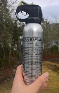 Bear spray at the ready!