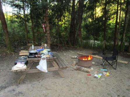 Camping in Tofino