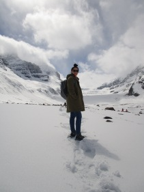 Glacier on the Icefield Parkway