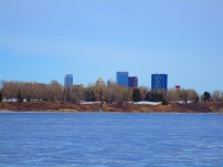 Views of Calgary from Glenmore Reservoir