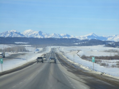 Open road to the mountains
