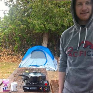 Camping in the Vancouver rain