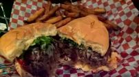 Stuffed Burger at Naina's, Calgary