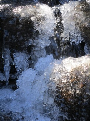 Balls of ice at Pock Wock Falls