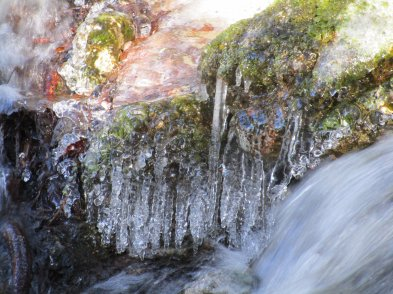 Pock Wock Falls icicles