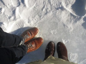 Ice under foot at Bridal Falls, Alberta