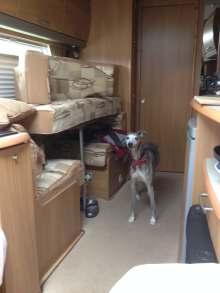 Chilling in the caravan