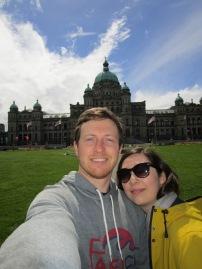 Outside the BC Legislative building