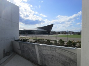 View of museum from Memorial