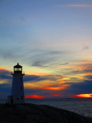 Stunning Peggy's Cove sunset