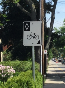 Cycling road signs