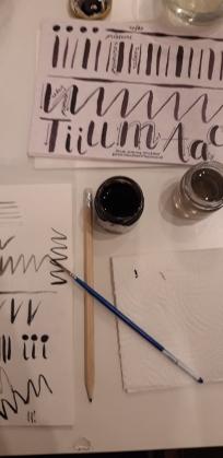 brush lettering class